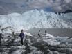 Hiking on Matanuska Glacier.